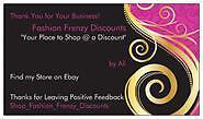 Fashion Frenzy Discounts