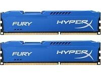 Brand new 8GB DDR3 ram kit (2 x 4GB) Hyperx Fury 1600Mhz