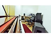 Recording studio from £50 with Steinway Grand. Rehearsal rooms with pianos from £10 per hour