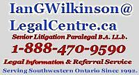 Paralegal Services - BRANTFORD Area