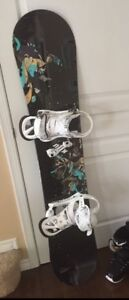 Women's Snowboard and Bindings for Sale