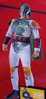 Mens Boba Fett Star Wars Padded Muscle Halloween Costume Mask S Med Large NEW](Fett Costume)