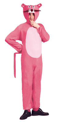 Adult Pink Panther Costume Mens Ladies Fancy Dress TV Cartoon 60s 70s NEW M L XL
