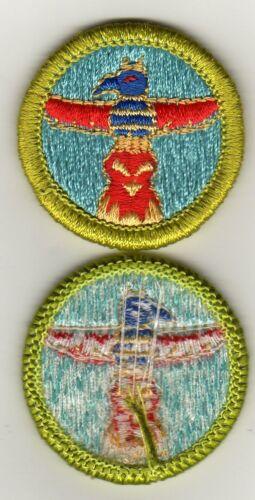 Wood Carving Merit Badge, Type H, Blue Back Version (1972-1975), Mint!