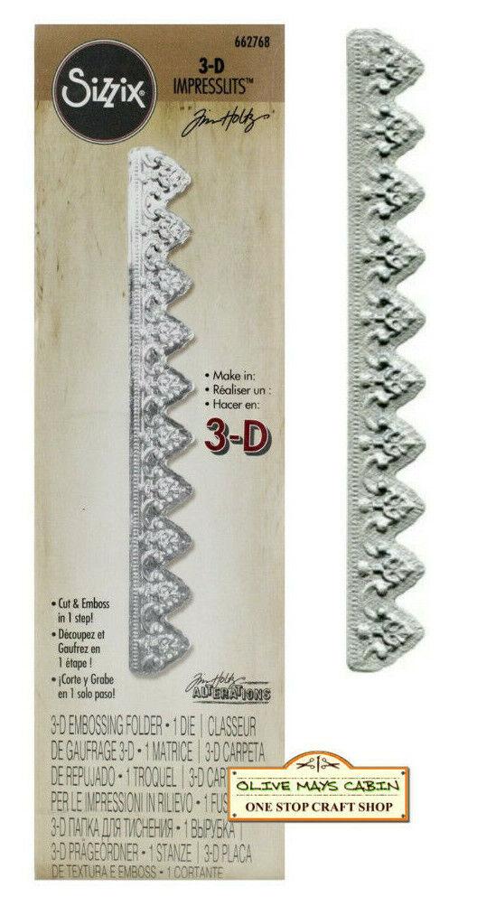 Sizzix 3D Mini provincial ADORNO TROQUELADO Y Carpeta de grabación en relieve 662768