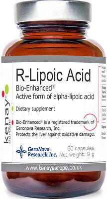 R-LIPOIC ACID BIO-ENHANCED® ACTIVE FORM OF ALPHA-LIPOIC ACID  60 CAPSULES Alpha Lipoic Acid Enhancer