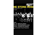 2 seated stone roses tickets