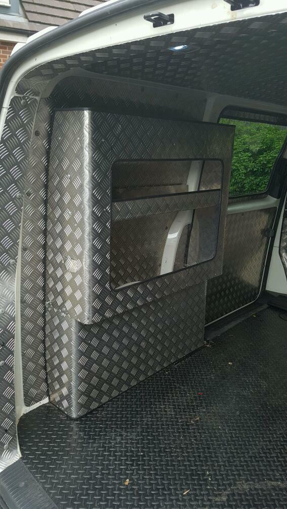 Vw T5 Shelving Aluminium Checker Plate Inc Vinyl Floor