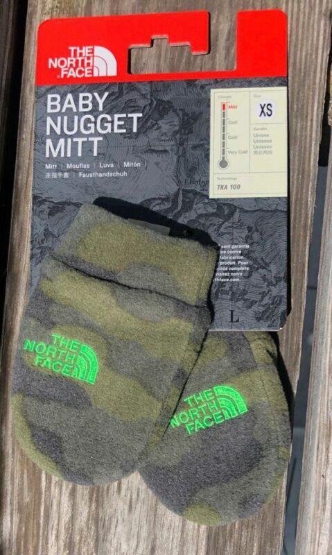 THE NORTH FACE Baby Nugget Mitt CAMO Mittens NEW NWT Unisex Sz XS Fleece
