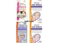 NEW Sally Hansen French Manicure Kit 2301 + (Pack 3) 14 Day Nail Shield 3501/2/3