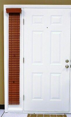 "Custom-size, Cherry Faux Wood Single Sidelight Blind, 2""slats, outside mount,"