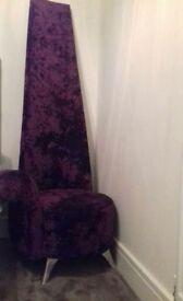 Potenza crushed velvet purple chair