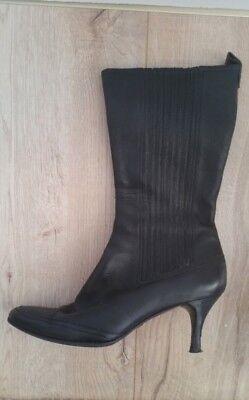 Hugo Boss Damenstiefel Gr.40 schwarz Stiefelette gute Qualität Pfennigabsatz