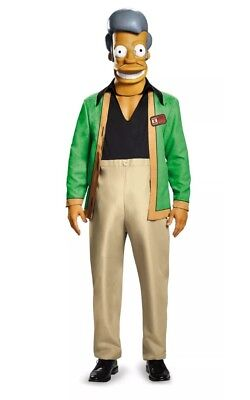 The Simpsons Apu - Kwik E Mart Deluxe Adult Costume-Men (42-46) by Disguise (Apu Costume)