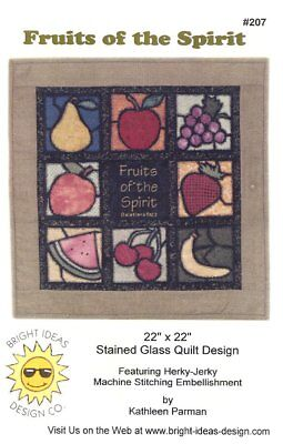 Fruits of the Spirit Stained Glass Kathleen Parman Quilt Pattern - Fruits Of The Spirit Craft