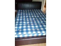 Double bed complete with mattress and Base