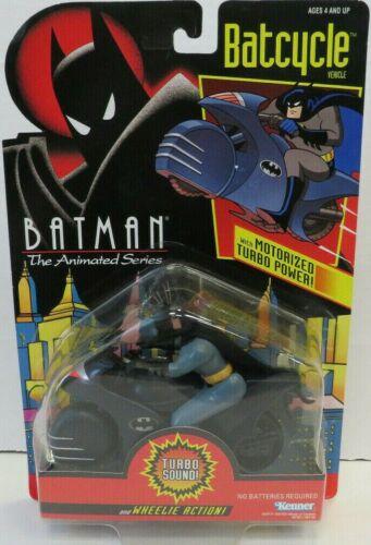 Batman The Animated Series Batcycle Turbo Motorized Power Wheelie Action! Kenner