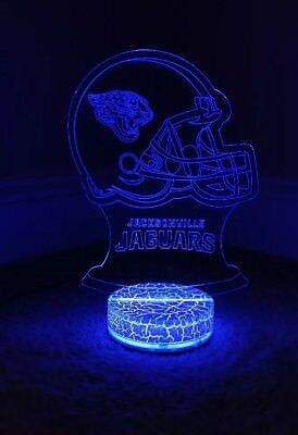 - Jacksonville Jaguars 3D illusion 7 Color LED Light Night Change Table Desk Lamp