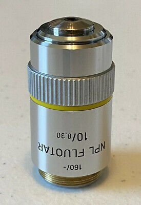 Leitz 160 - Npl Fluotar 10 0.03 Microscope Objective