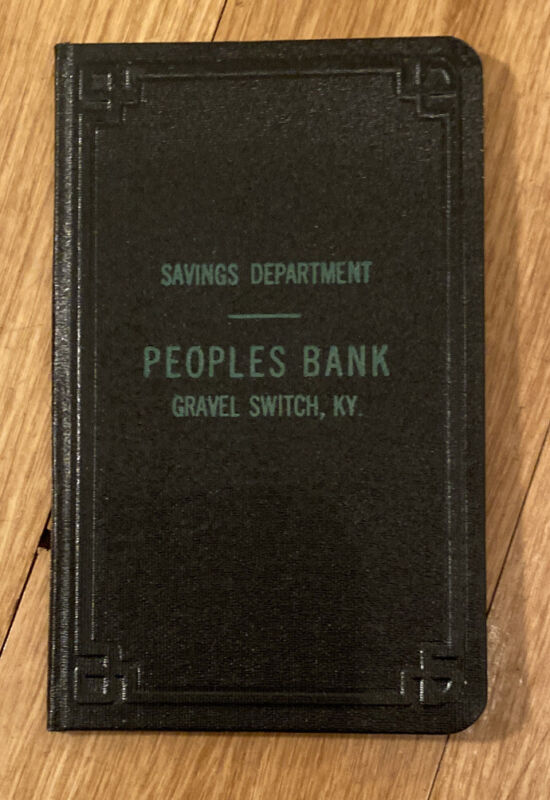 Peoples Bank Gravel Switch, KY Savings Department Bank Book 1968