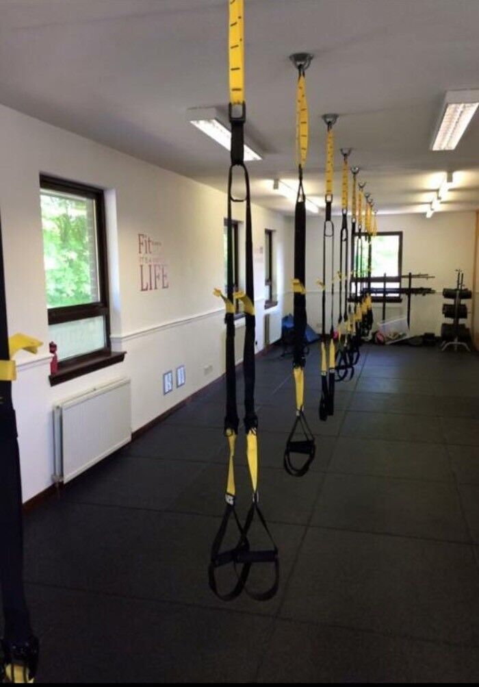 Gymnastics Equipment For Sale >> Trx style straps and ceiling hooks | in Lasswade ...