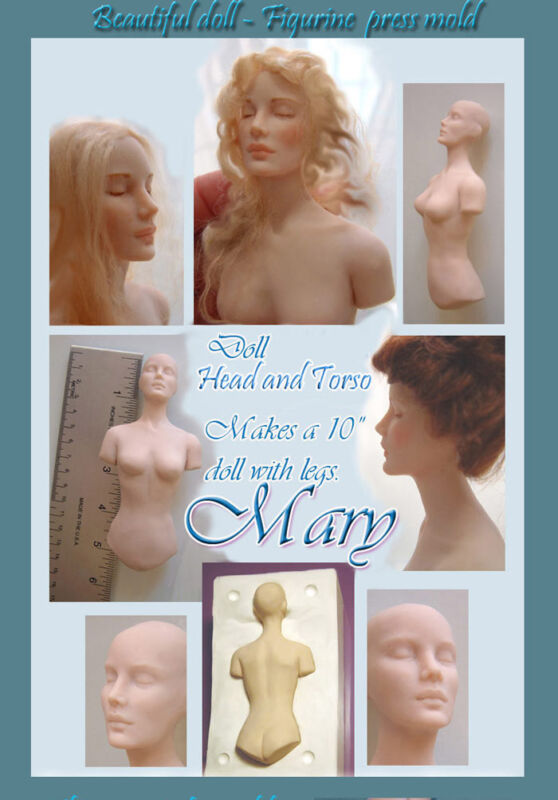 "Mary 10"" doll - PRETTY LADY 3 press molds set by Patricia Rose"