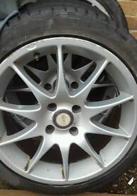 "17"" alloy wheels ford pugeot fit"