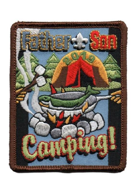 Boy Scouts of America BSA 3 inch FATHER & SON CAMPING 2019 Activity Patches NEW