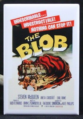 MAGNET Movie Poster Photo Magnet THE BLOB 1958 Steve McQueen Free Shipping