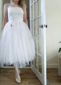 Chi chi London white dress size 12