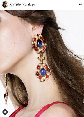 Brand New Christie Nicolaides Carlotta Purple Earrings