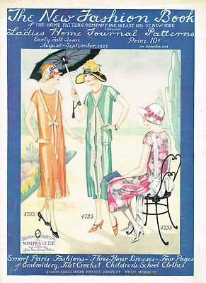 1920s Ladies Home Journal New Fashion Book 1925 Pattern Catalog Ebook Copy on CD