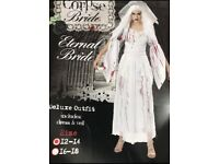 Ladies Halloween Corpse Bride Costume Size 12-14 new