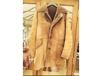 Men's dark brown sheepskin coat