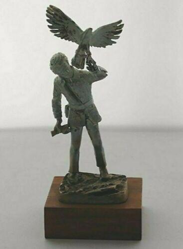 Solid Silver Figurine - The Falconer - Ltd Edition  - Sheff. 1977 - Falconry