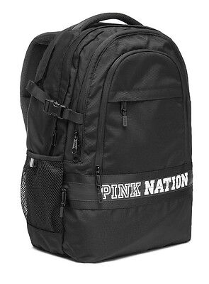 Victorias Secret PINK COLLEGIATE BACKPACK - Black White PINK NATION - 2017 - NEW