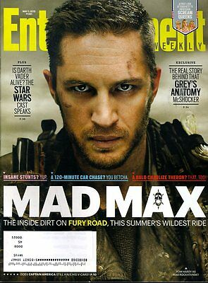 Tom Hardy Mad Max Entertainment Weekly Magazine May 1 2015