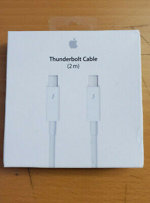 Genuine Apple 2m Thunderbolt Cable, White - MD861LL/A
