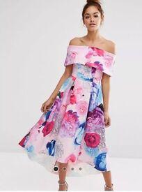 ASOS Bardot Floral Dress Size 8