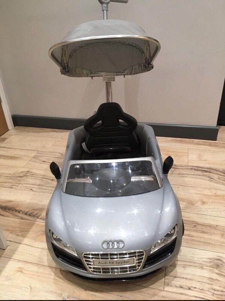 Audi R8 Spyder Push Buggy, Sit & Ride Car