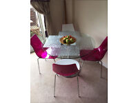 BHS glass dining table R.R.P £399