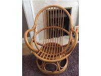 Vintage children Bamboo chair