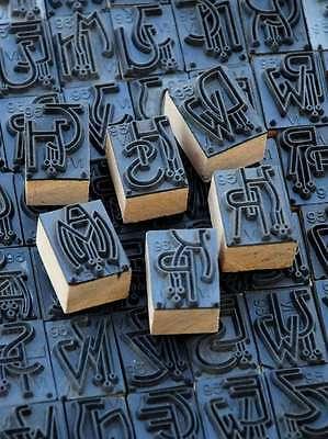 Jugendstil Wäschestempel Monogramm Schablone Textilstempel Stoff Weißstickerei