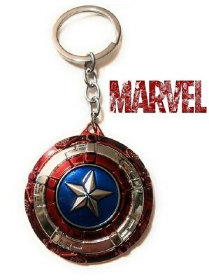 Captain America Spinning Star Shield The Avengers Movie metal Key chain (Spinning Star)