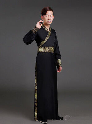 Chinese Warrior Costume (Chinese Ancient Hanfu Warrior Knights Scholars Cosplay Dynasty Men's Costumes)
