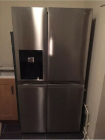 A+ Energy Rated American Style Lg Steel Fridge freezer with Non-Plumbed Water and Ice Dispenser