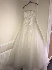 Ivory wedding princess style dress size 10