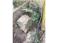 FREE rocks for rockery / garden
