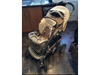 Travel system pram, car seat. rain cover etc..