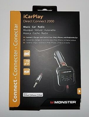 NEW MONSTER iCARPLAY DIRECT CONNECT 2000 CHARGE & CONTROL FOR iPOD & iPHONE